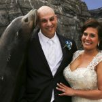 Bride Groom Seal Kiss